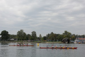 Hart erkämpfter Zieleinlauf von Boot 2