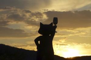 Die Zeller Schwarze Katz grüßt die Abendsonne